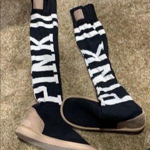 NWOTS Victoria secret PINK slipper socks